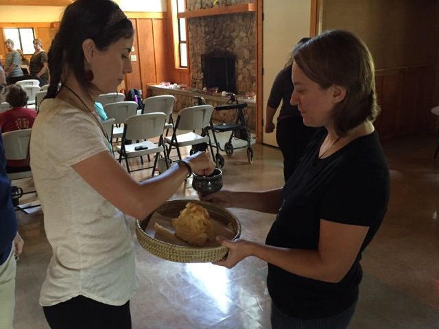 Communion at D W M Retreat 2015