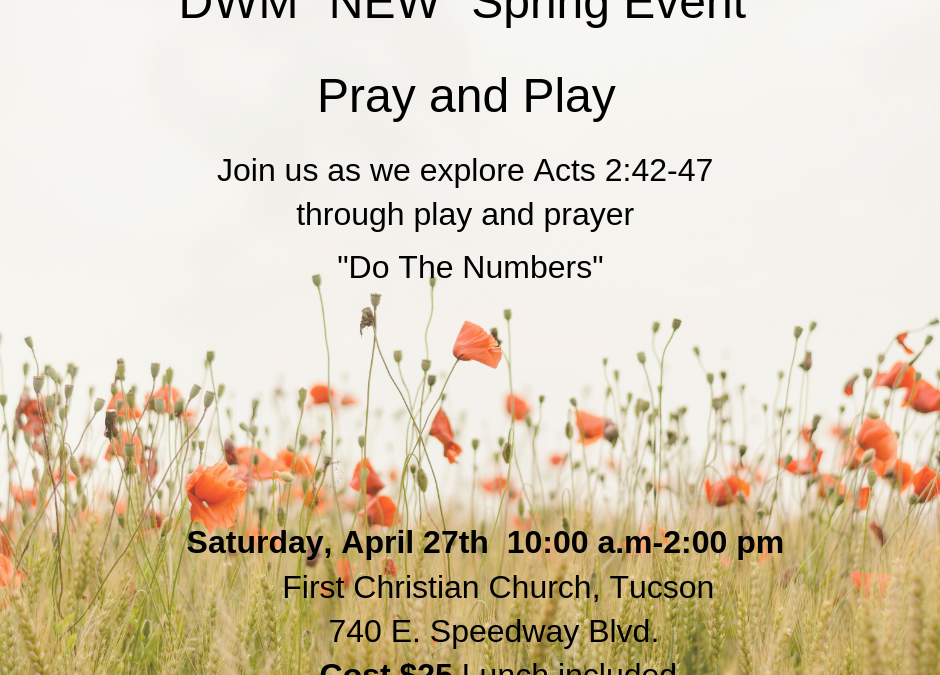 Pray & Play – A DWM Event April 26