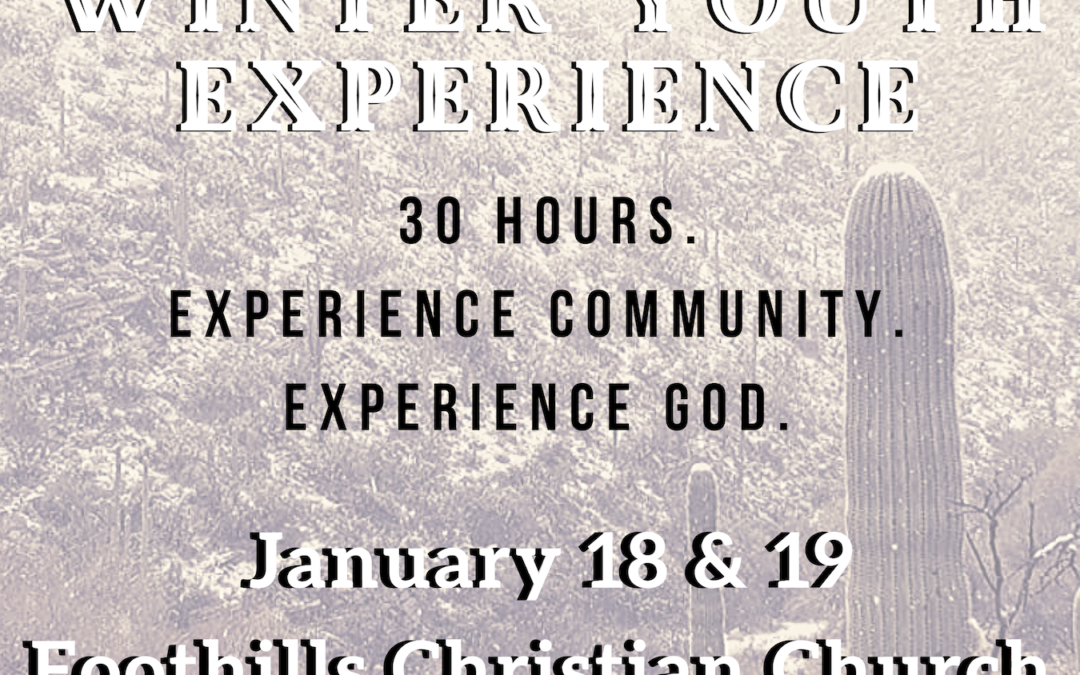 Winter Youth Experience – January 18-19